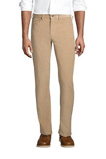 Le Pantalon Droit Stretch en Velours Côtelé Ourlets Sur-Mesure, Homme