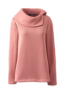 Women's Split Collar Fleece Top
