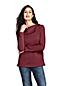 Women's Petite Split Collar Fleece Top