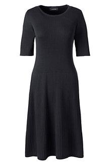 Supima Strickkleid mit Rippenstruktur für Damen in Normalgröße