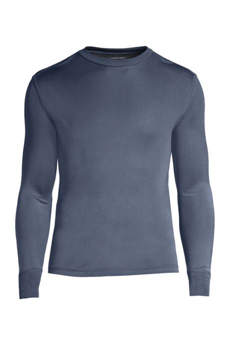 Men's Tall Silk Long Underwear Crew Neck