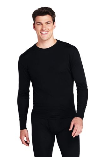 Men's Silk Crew Neck Thermal Top