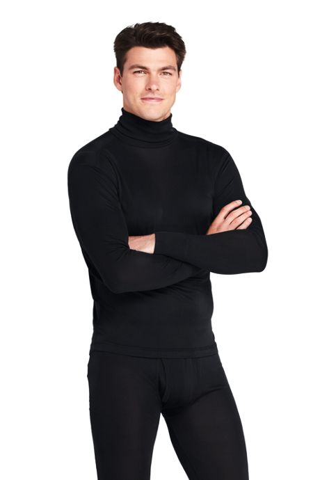 Men's Silk Long Underwear Turtleneck