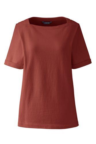 6ee092b71b72a8 Shirt mit U-Boot-Ausschnitt für Damen