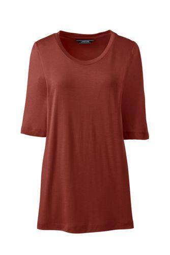 Le T-Shirt Léger en Modal et Soie, Femme Stature Standard