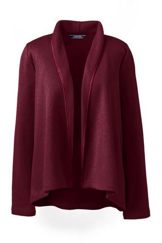 Women's Petite Open Front Fleece Cardigan