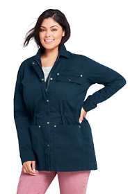 Women's Plus Size Woven Utility Jacket