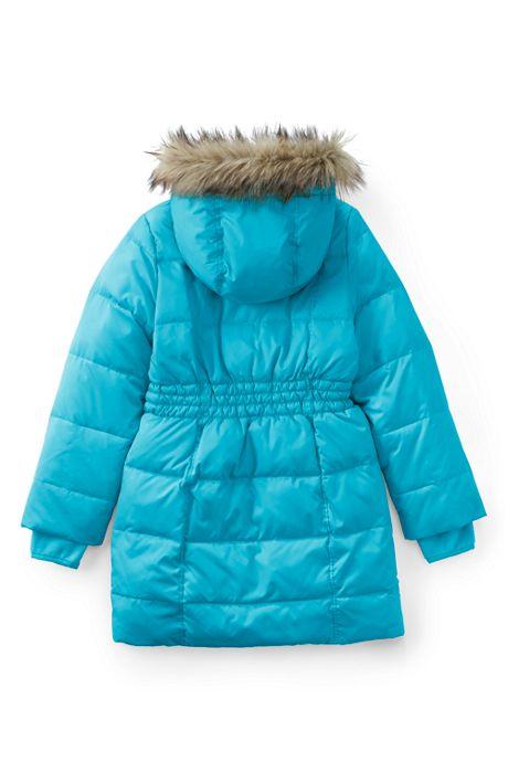 School Uniform Little Girls Winter Fleece Lined Down Alternative ThermoPlume Coat