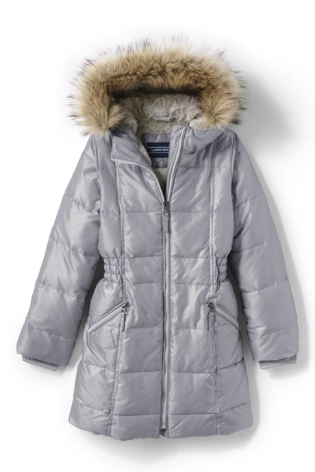 Girls ThermoPlume Fleece-Lined Coat