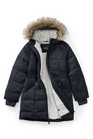 Girls ThermoPlume Fleece-Lined Coat