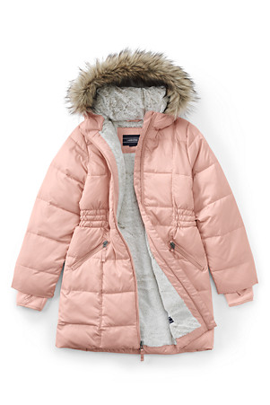 a8cebbd93 Girls' Thermoplume Fleece Lined Coat   Lands' End