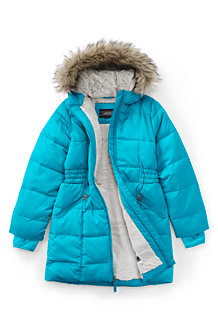 Girls' Thermoplume Fleece Lined Coat
