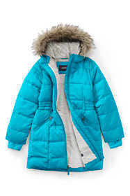 School Uniform Girls Winter Fleece Lined Down Alternative ThermoPlume Coat