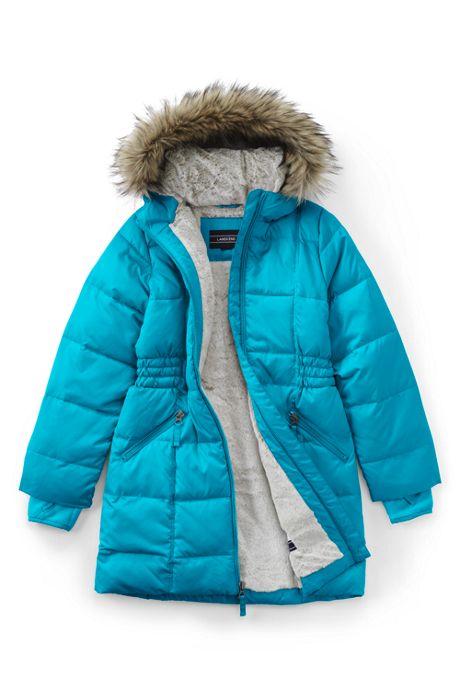 School Uniform Girls Winter Fleece Lined Down Alternative ThermoPlume Coat