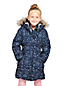 Little Girls' Patterned Thermoplume Fleece Lined Coat