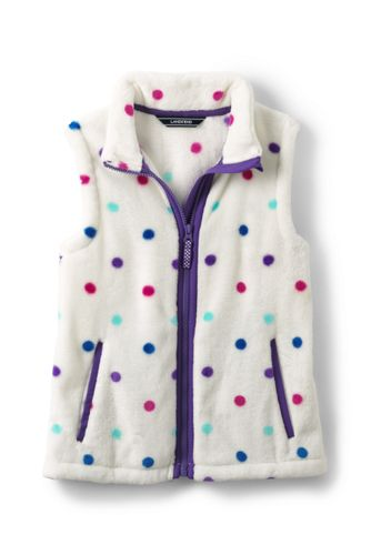 Girls' Patterned Softest Fleece Gilet