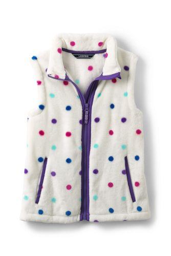 Girls' Patterned Softest Fleece Gilet