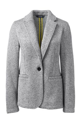Women's Herringbone Fleece Blazer