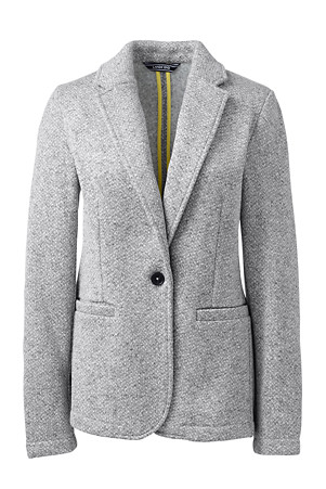 588bcc935 Women's Herringbone Fleece Blazer | Lands' End