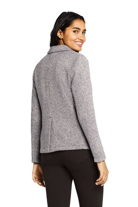 Women's Textured Sweater Fleece Blazer