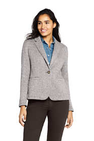 Women's Textured Sweater Fleece Blazer