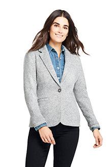 Women's Herringbone Fleece Blazer
