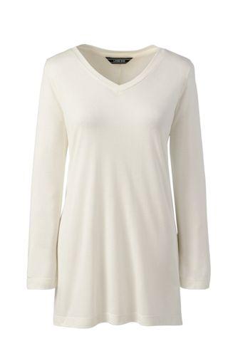Langes Shirt aus Modal/Seidenmix für Damen