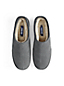 Men's Suede Slippers with Shearling Lining