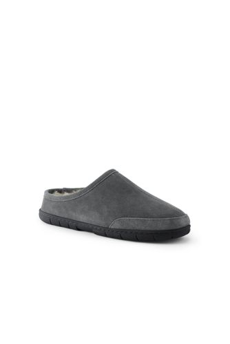 Lands' End - Suede Slippers with Shearling Lining - 2