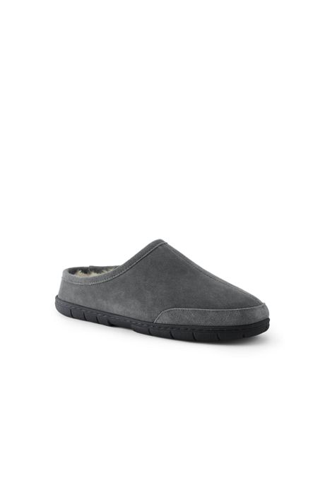 Men's Shearling Clog Suede Slippers