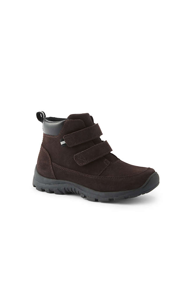 School Uniform Boys All Weather Suede Leather Boots, Front
