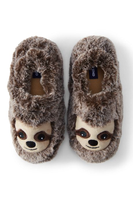 Kids Cute Animal Fleece Slippers