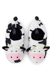 Kids' Animal-face Fleece Slippers