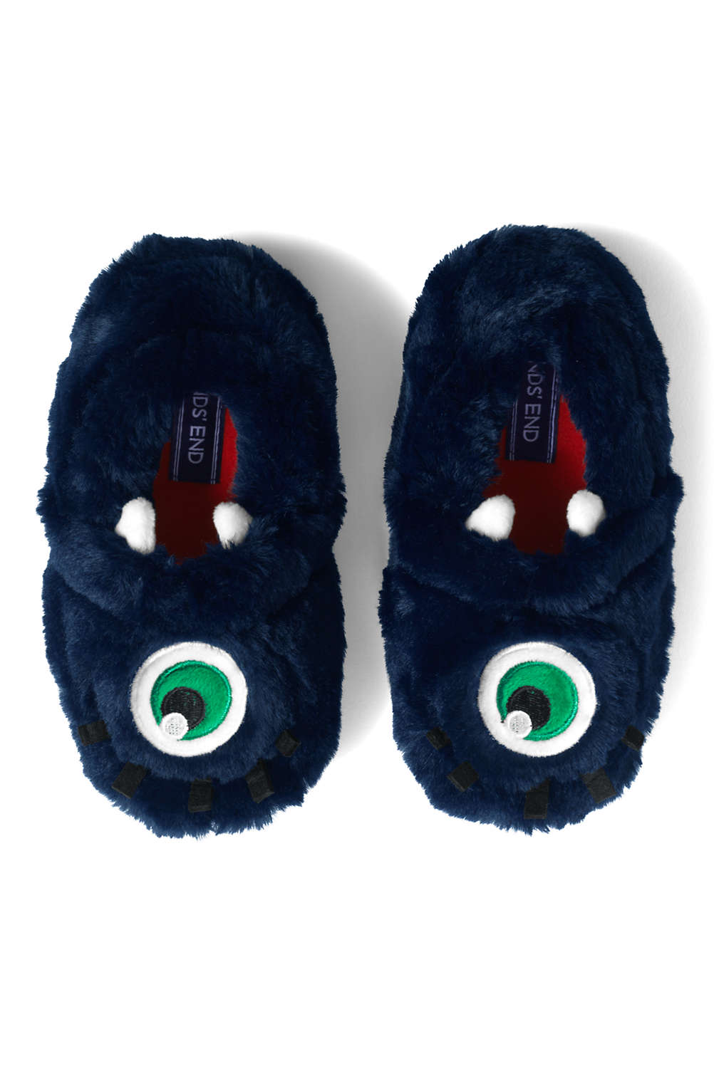caaa249c1 Toddlers Cute Animal Fleece Slippers from Lands  End