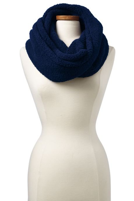 Women's Cozy Sherpa Fleece Infinity Scarf
