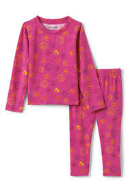 School Uniform Toddler Kids Thermal Base Layer Long Underwear Thermaskin Top and Bottom Set