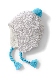 Kids' Peruvian Knit Bobble Hat