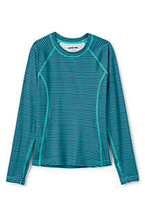 Little Girls Thermal Base Layer Long Underwear Thermaskin Crew Neck Shirt, Front