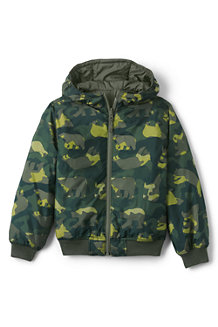 Little Kids' Reversible Padded Bomber Jacket with Hood