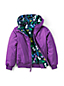 Little Kids' Reversible Padded Bomber Jacket with Hood