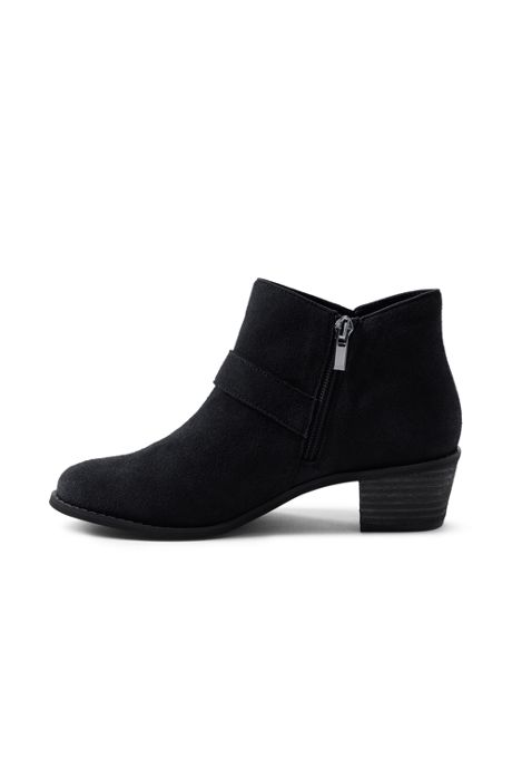 Women's Suede Block Heel Buckle Booties