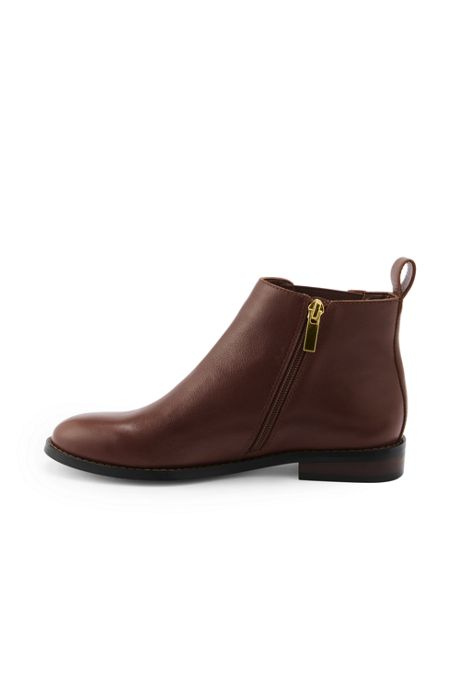 Women's Wide Leather Chelsea Boots