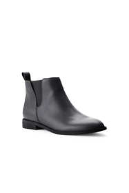 School Uniform Women's Wide Width Leather Side Zip Chelsea Boots