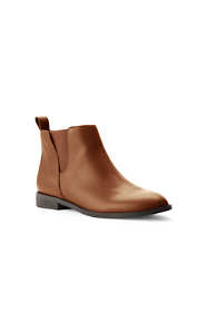 Women's Leather Side Zip Chelsea Boots
