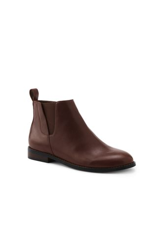 Women's Leather Chelsea Boots by Lands' End