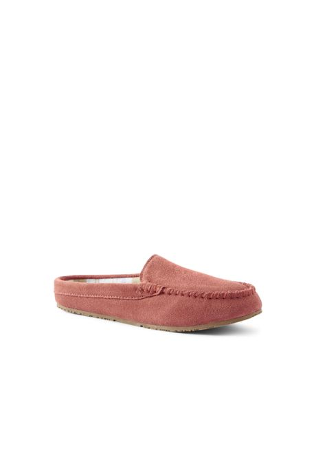 Women's Suede Clog Moccasin Slippers