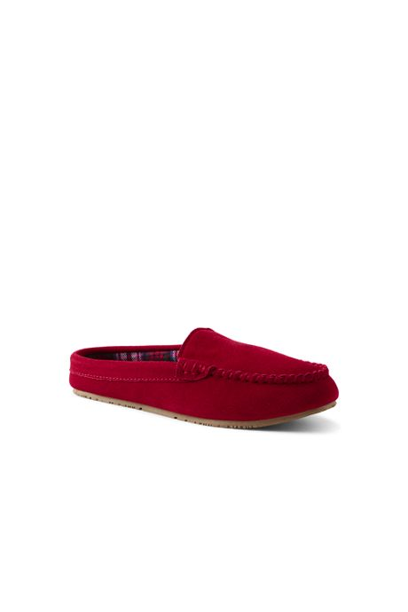 Women's Suede Leather Clog Moccasin Slippers