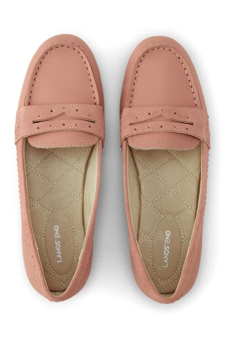 Women's Wide Leather Everyday Comfort Penny Loafers