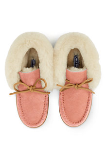 Women's Suede Moccasin Bootie Slippers