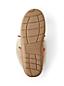 Les Mocassins d'Intérieur en Daim et Shearling Semi-Montants, Femme Pied Standard